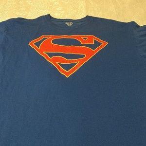 DC Original Superman Logo Men's T-shirt XL Blue